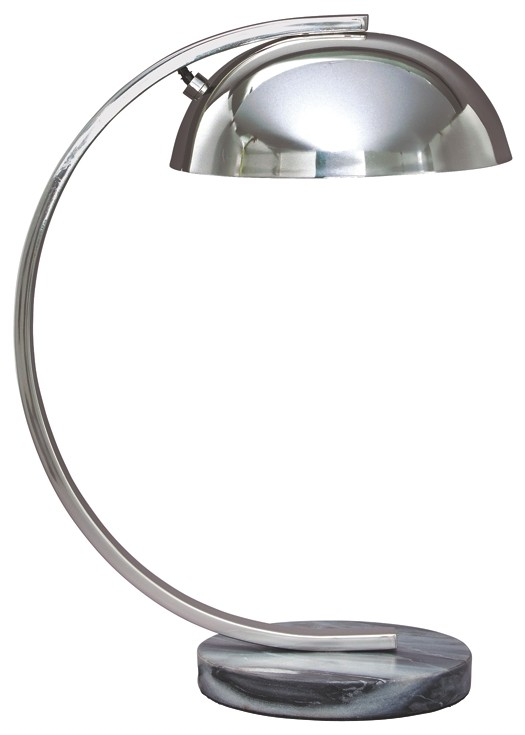 Haden - Chrome Finish - Metal Desk Lamp (1/CN)