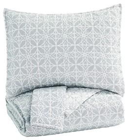 Mayda Graywhite King Quilt Set Q791003k Bedding Ensembles