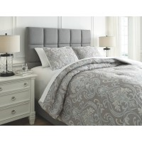 Noel - Gray/Tan - King Comforter Set