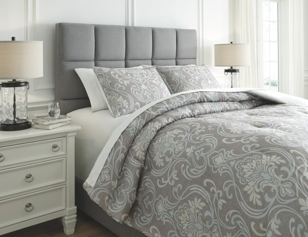 Noel Gray Tan Queen Comforter Set Q780003q Bedding