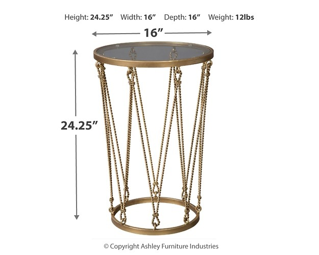 Phillmont - Gold Finish - Accent Table