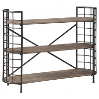 Flintley - Brown/Gunmetal - Bookcase