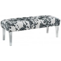 Brooklee - Black/Cream/Silver - Accent Bench