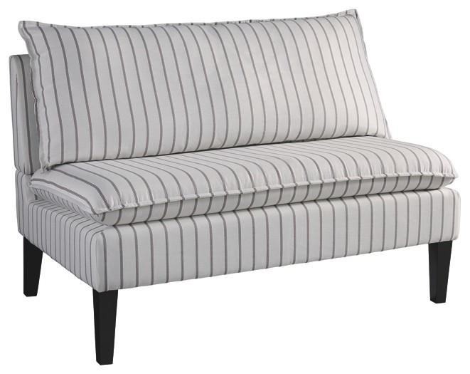 Arrowrock white gray accent bench