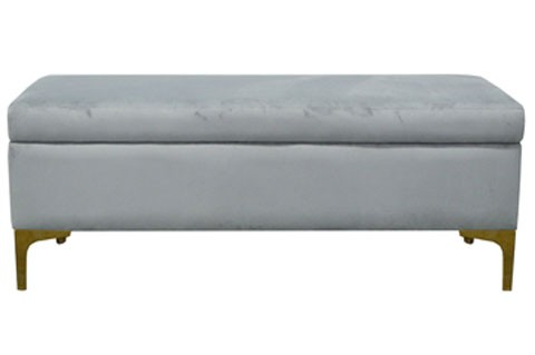 Delicieux Bachwich   Gray   Storage Bench