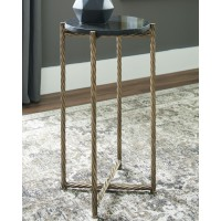 Brycewood - Black/Gold Finish - Accent Table
