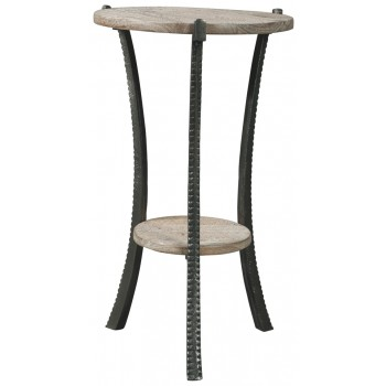 Enderton White Wash Pewter Accent Table Accent