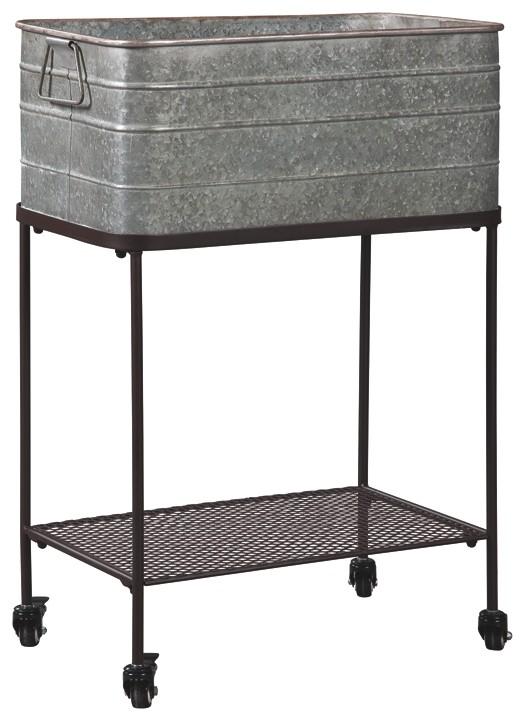 Vossman - Antique Gray/Brown - Beverage Tub | A4000084 | Beverage ...