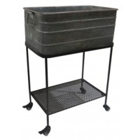 Vossman - Antique Gray/Brown - Beverage Tub