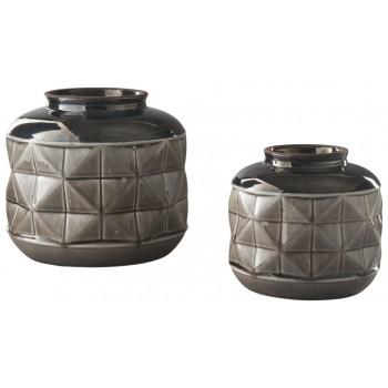 Eire - Taupe/Black - Vase Set (2/CN)