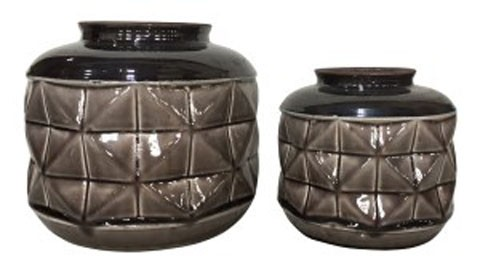 Eire Taupeblack Vase Set 2cn A2000349 Vases Room By