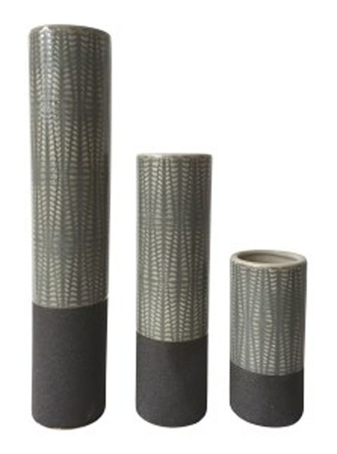 Elwood Gray Vase Set 3cn A2000351 Vases Sleep Shoppe