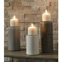 Deus - Gray/White/Brown - Candle Holder Set (3/CN)