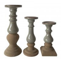 Emele - Taupe - Candle Holder Set (3/CN)