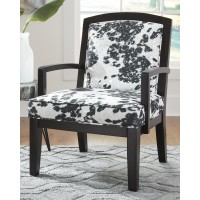 Treven - Black/Cream/Silver - Accent Chair