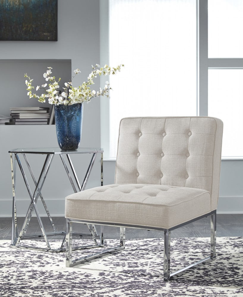 Ivory Living Room Furniture: Cimarosse - Ivory - Accent Chair