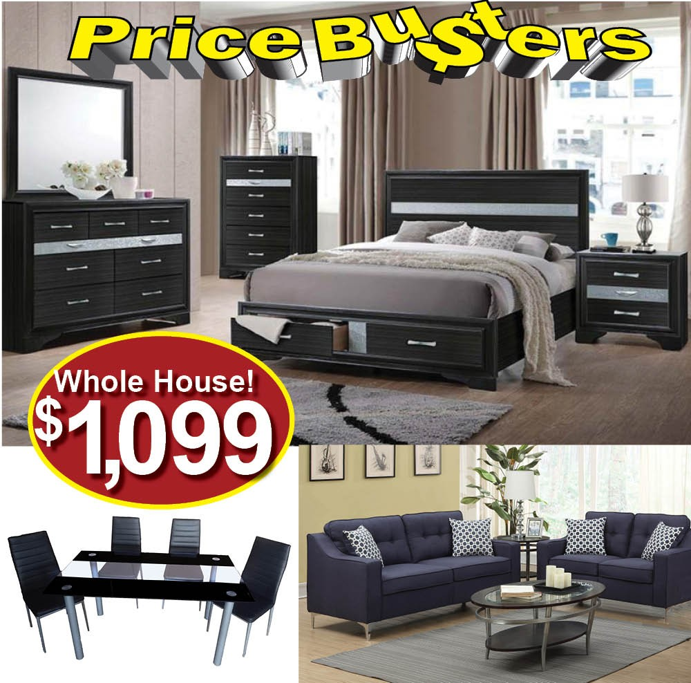 Furniture package deal package 60 bedroom packages price busters furniture for Cheap bedroom furniture packages