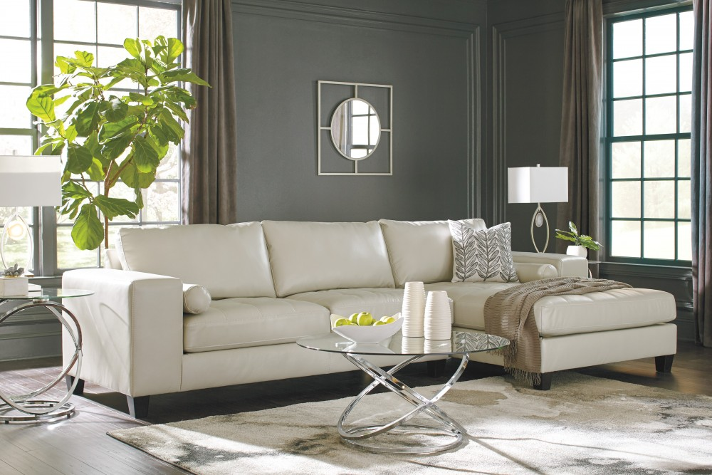 Nokomis   Arctic 2 Pc. LAF Sofa Sectional