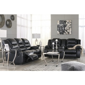 Vacherie - Black - Reclining Sofa & Loveseat