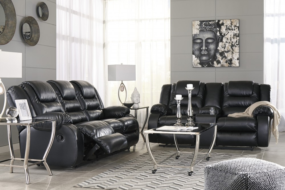 Vacherie - Black - Reclining Sofa & Loveseat