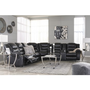 Vacherie - Black 3 Pc. Reclining Sectional