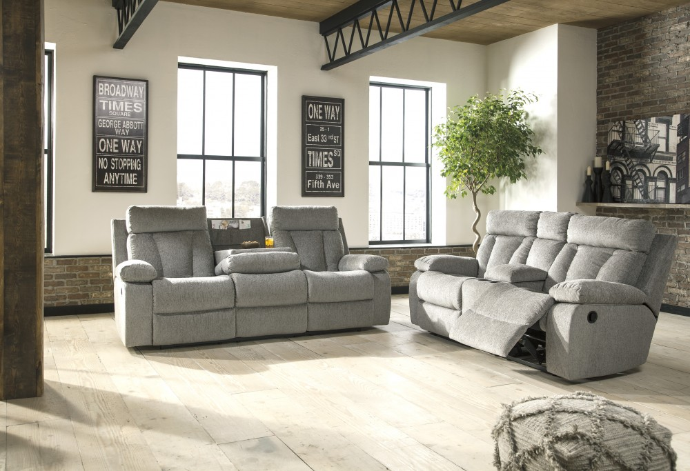Mitchiner - Fog - Reclining Sofa & Loveseat