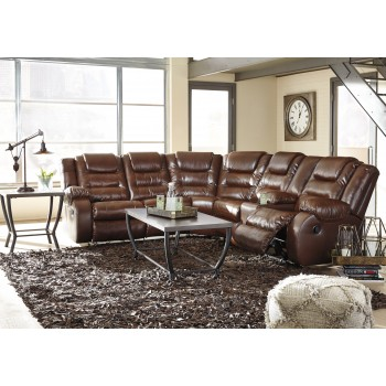 Walgast - Espresso 2 Pc. Reclining Sectional