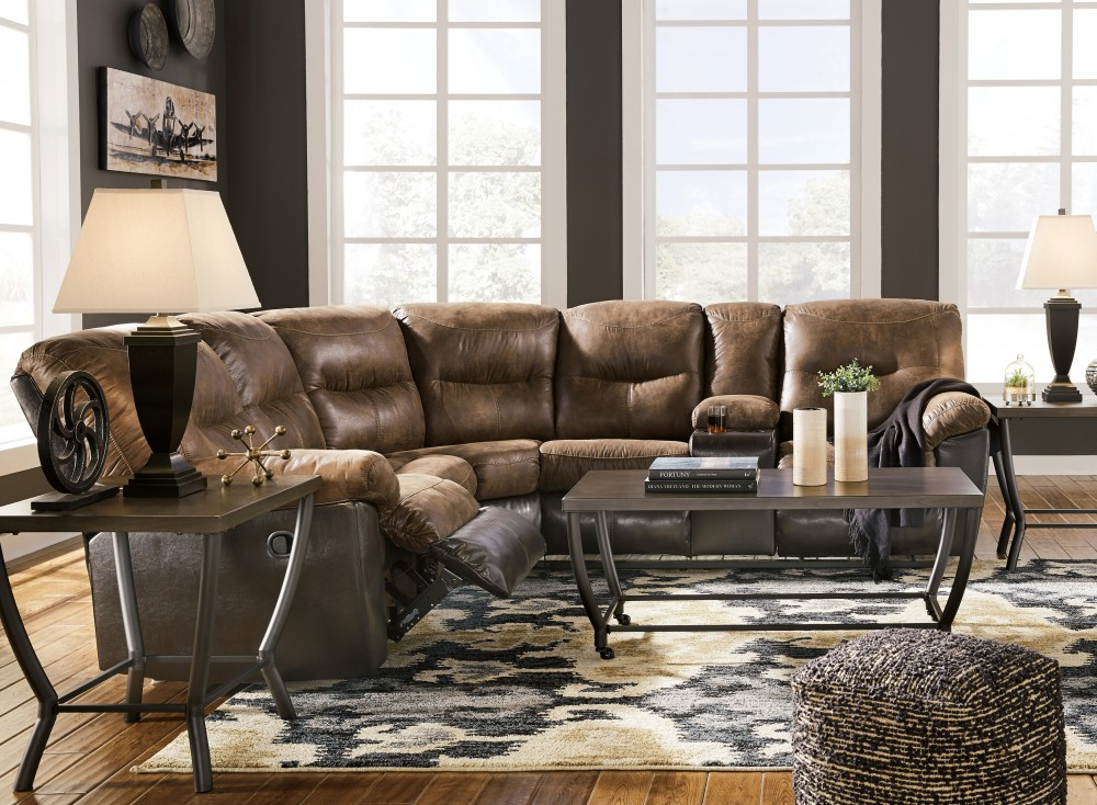 Leonberg - Coffee 2 Pc. Reclining Sectional