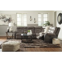 Hacklesbury - Brownstone 4 Pc. Power LAF Loveseat Sectional