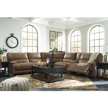 Grattis - Saddle 6 Pc. Power Reclining Sectional