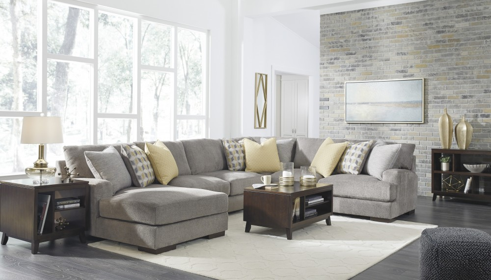 Fallsworth - Smoke 4 Pc. LAF Corner Chaise Sectional