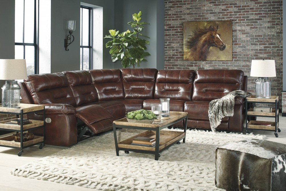 Bancker - Sienna 5 Pc. Power Reclining Sectional