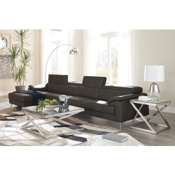 Tindell - Gray 3 Pc. LAF Corner Chaise Sectional
