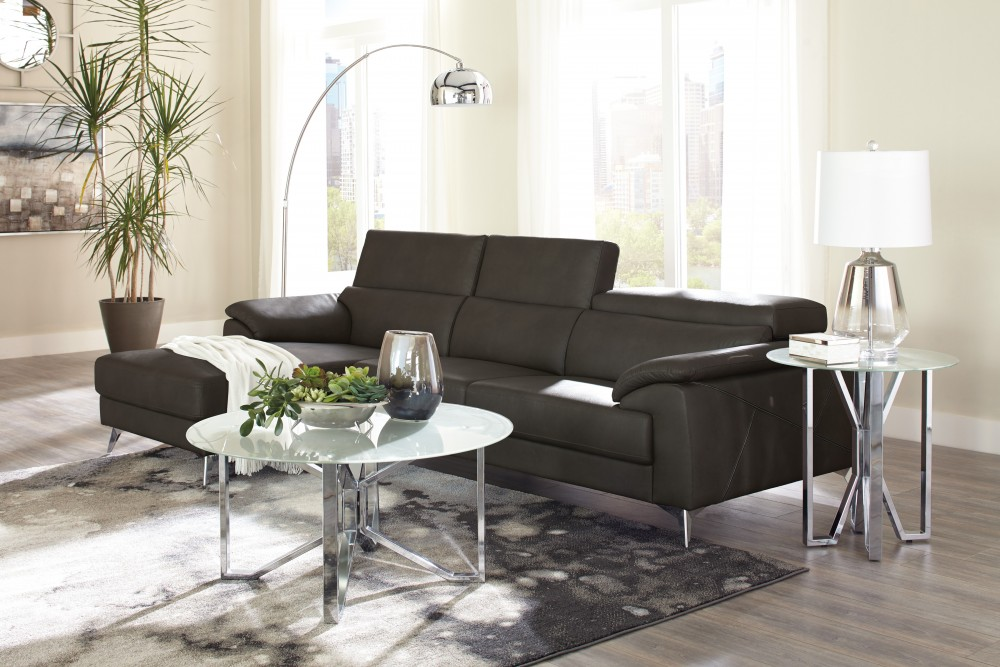 Tindell   Gray 2 Pc. LAF Corner Chaise Sectional