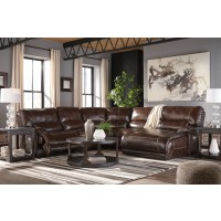 Killamey - Walnut 5 Pc. Power Reclining RAF Chaise Sectional