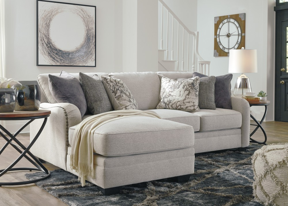 Dellara - Chalk 2 Pc. Corner Chaise Sectional