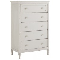 Faelene - Chipped White - Five Drawer Chest