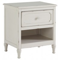 Faelene - Chipped White - One Drawer Night Stand