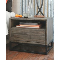 Cazentine - Gray/Black - One Drawer Night Stand