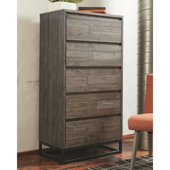 Cazentine - Gray/Black - Five Drawer Chest