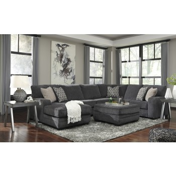 Tracling - Slate 3 Pc. LAF Chaise Sectional