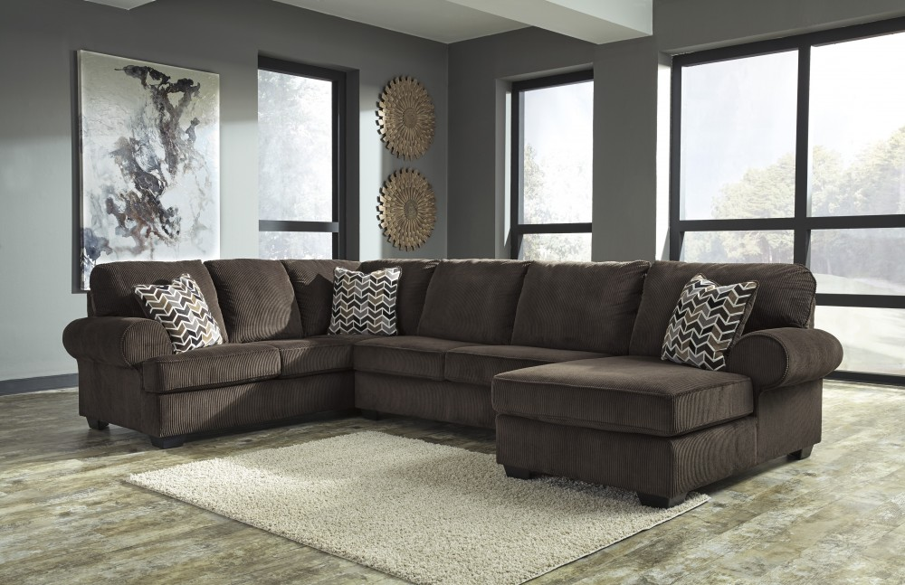 Jillingsly Chocolate 3 Piece Sectional 7250117 34 66