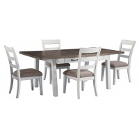 Stownbranner - Rectangular Dining Room Table & 4 UPH Side Chairs