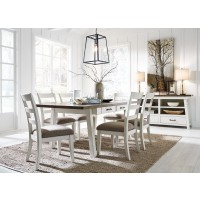 Stownbranner - Rectangular Dining Room Table & 6 UPH Side Chairs