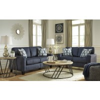Burgos - Navy - Sofa & Loveseat
