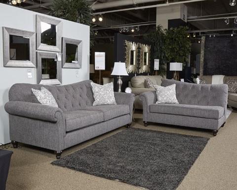 Praylor slate sofa sofas pruitt 39 s fine furniture for Pruitts bedroom sets