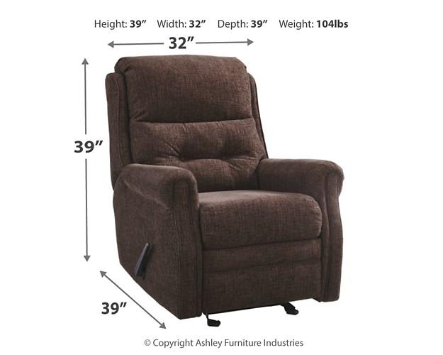 Pruitts Bedroom Furniture: Penzberg - Sable - Glider Recliner