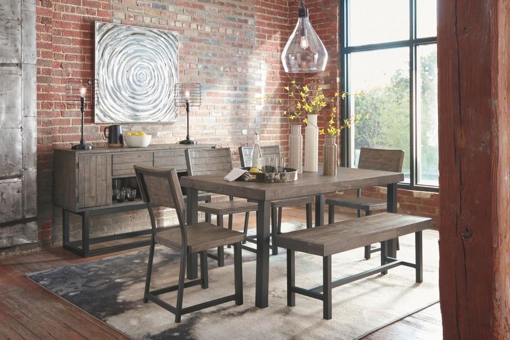 Cazentine - Grayish Brown - Dining Room Bench