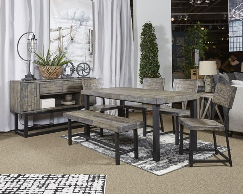 Cazentine - Grayish Brown - Dining Room Bench   D579-00   Benches ...