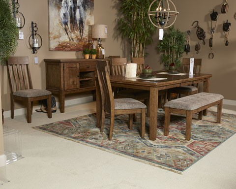 Flaybern - Brown - Large UPH Dining Room Bench   D595-00   Benches ...
